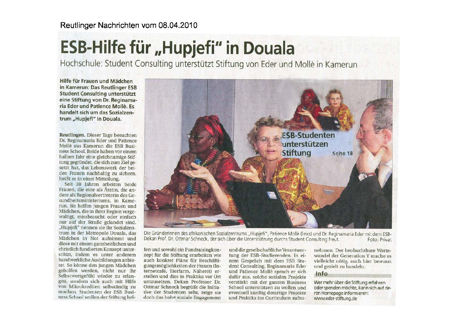 Reutlinger Nachrichten 08.04.2010