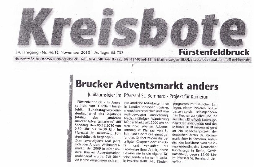 Kreisbote Fürstenfeldbruck 16. Nov. 2010